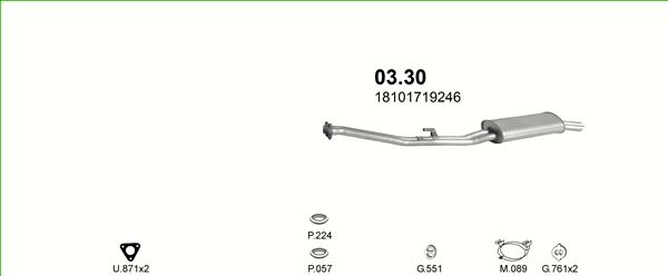 Auspuff Endschalldämpfer BMW 3 E30 325 i 126 kW Schalldämpfer