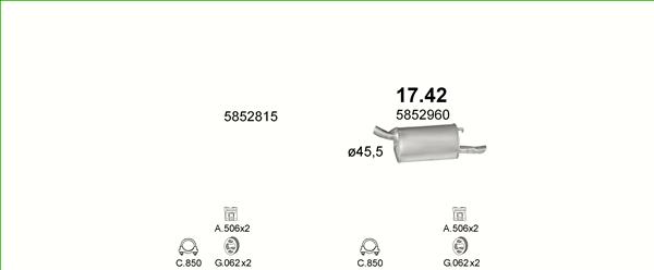 OPEL FRONTERA A 4X4 HARD TOP 2.0 115PS 1992-1995 Endtopf Auspuff